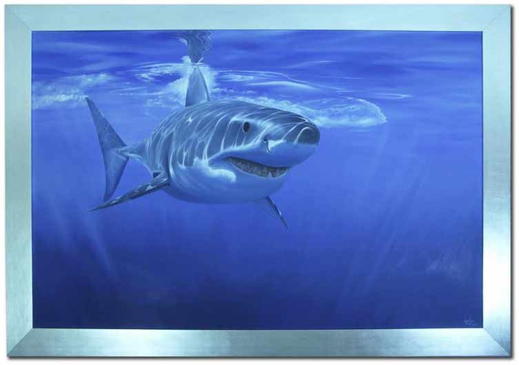 Finished Shark Oil Painting